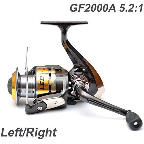 EverTrust ( TM ) 3ballベアリング左/右交換可能な折りたたみ式ハンドルFly Fishing Reelスピニングリールgf2000 a 5.2 : 1   B00V34KUES