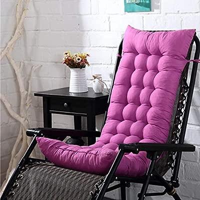 Marbeine - Cojín de Asiento para sillas, sillones o tumbonas de jardín, terraza Gruesa para Exterior, Funda de 125 x 48 x 8 cm, Lavanda