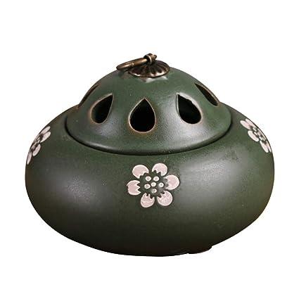 Quemador de Incienso de cerámica Estufa de aromaterapia Antigua Ceremonia del té Utensilios de Incienso Adornos