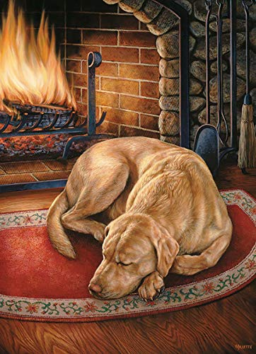 Cobble Hill Home is Where The Dog is by Artist Rosemary Millette 1000 Piece Jigsaw Puzzle