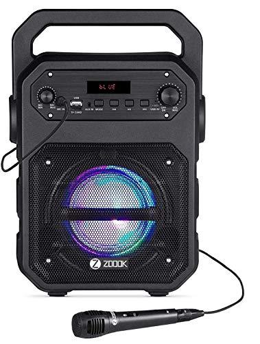 Zoook Rocker Thunder 20 watts Bluetooth Party Speaker with Karaoke Mic
