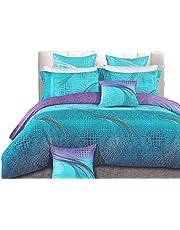 King Aqua Turquoise Quilt Cover Set, Super Soft 3pcs Aqua Blue doona Cover/Duvet Cover Set (King Size)