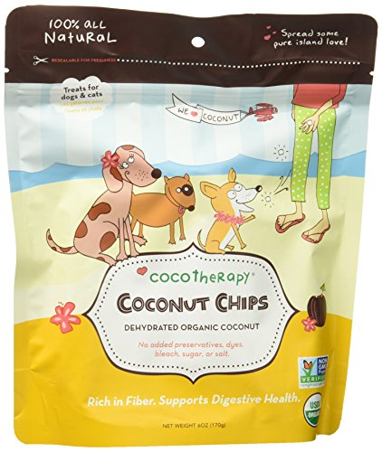 CocoTherapy CTT-0002-6 Coconut Chips (1 Pouch), 6 oz (Coconut Treats For Dogs)