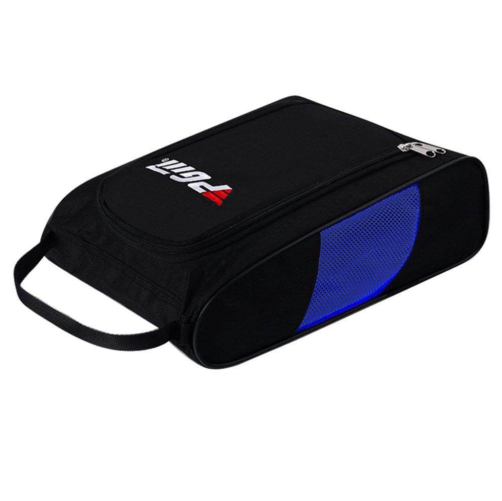 HMXゴルフシューズバッグ-- 4200dナイロン+メッシュ B071R454VG black with blue mesh