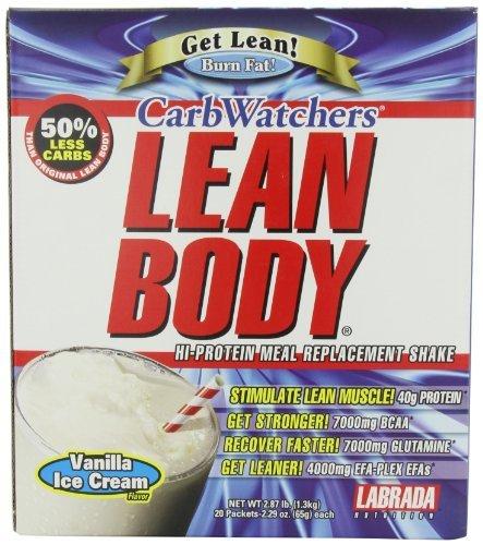 Labrada Carb Watcher Lean Body Vanilla Powder Sachets Pack of 20 by Labrada