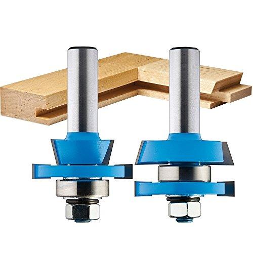 Door Cutter (2-Piece Rail/Stile Shaker Cutter Bit Set)