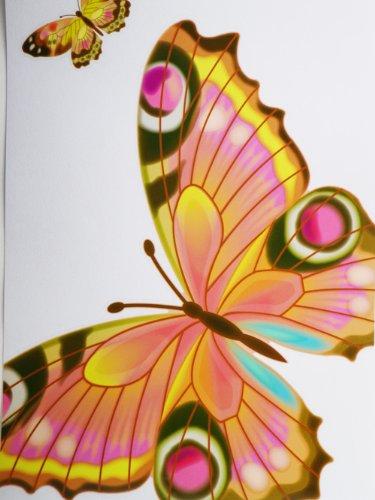 L'Autocollant de papillon (Rose) - le Tatouage Il Autocollants de Portable Ganz stkr-butfly46165pnk-27b-g30