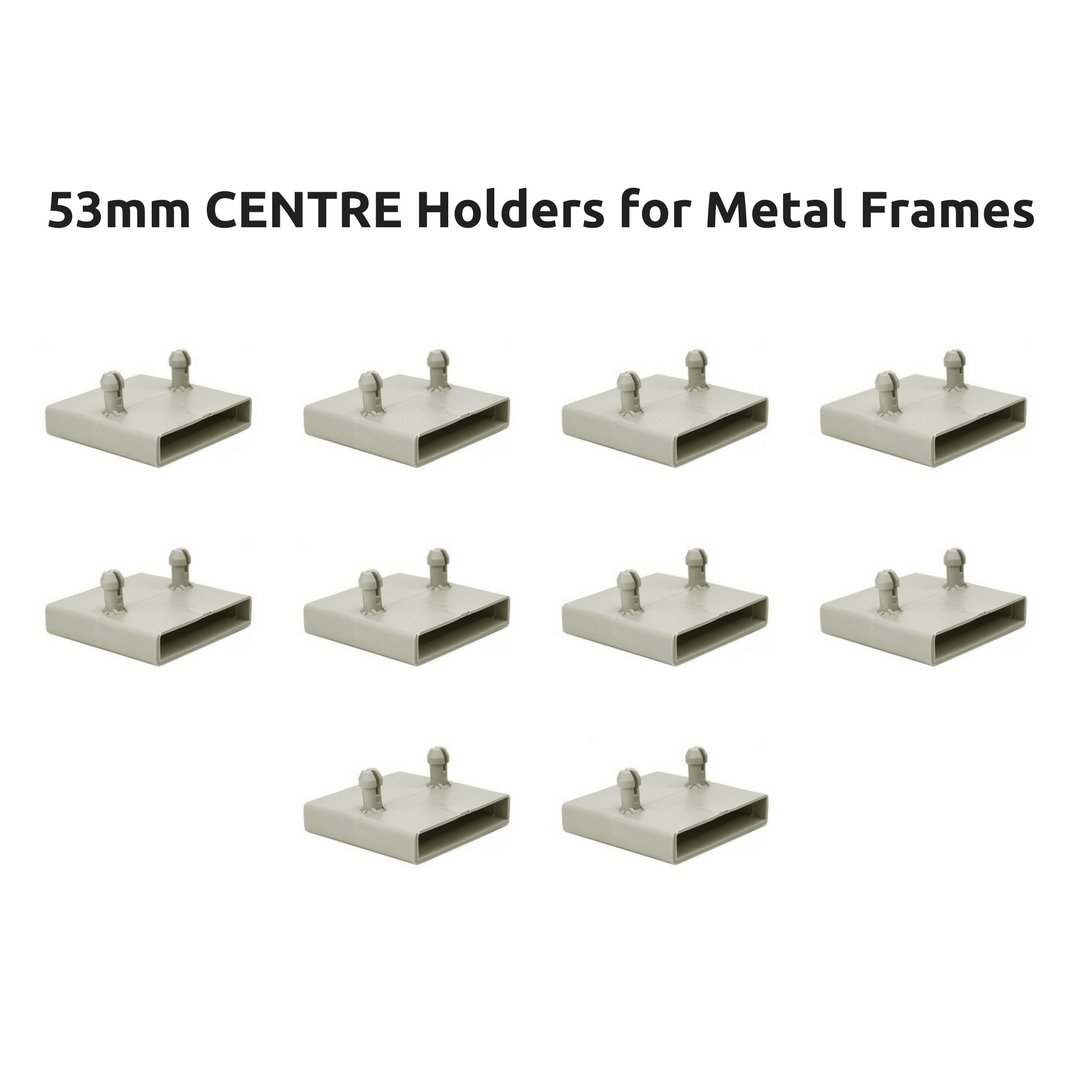 53mm Centre Bed Slat Holders Caps for Metal Frames - 2 prongs (Pack of 10) The Bed Slats Company