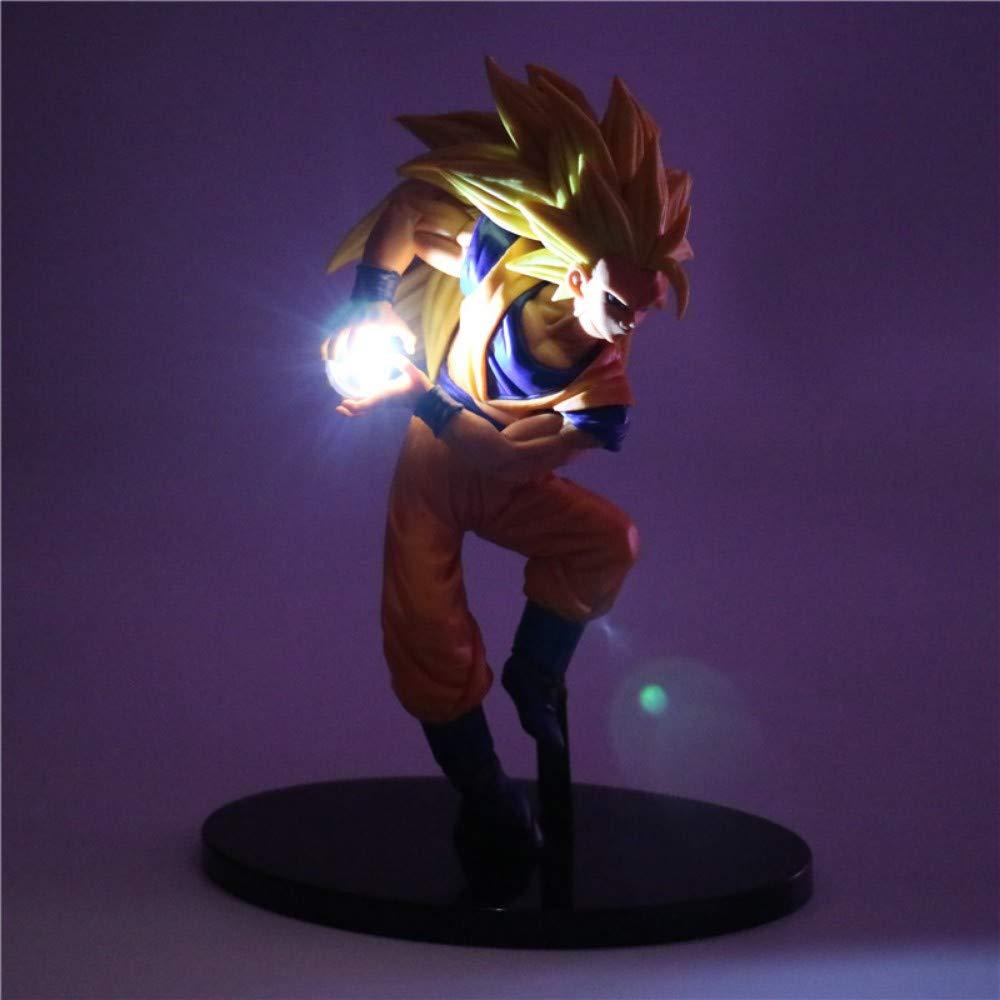 Dragon Ball Z Figurines Nuit Lumi/ère Son Goku Led Lumi/ère DIY Mod/èle De Lampe De Table Anime Dragon Ball Super Saiyan Lampe De Jouets 3