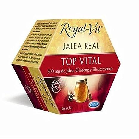 Jalea Real Royal Top Vital con Ginseng 20 ampollas de Dietisa: Amazon.es: Salud y cuidado personal