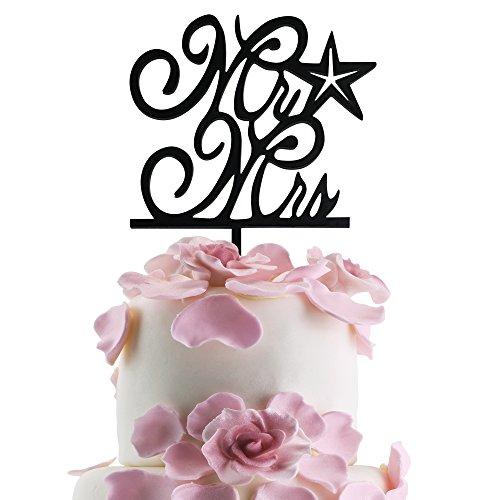JennyGems Starfish Cake Topper - Cake Toppers Series - Coastal Beach Wedding & Anniversary Cake Topper - Nautical and Ocean Sea Cake Decoration ()
