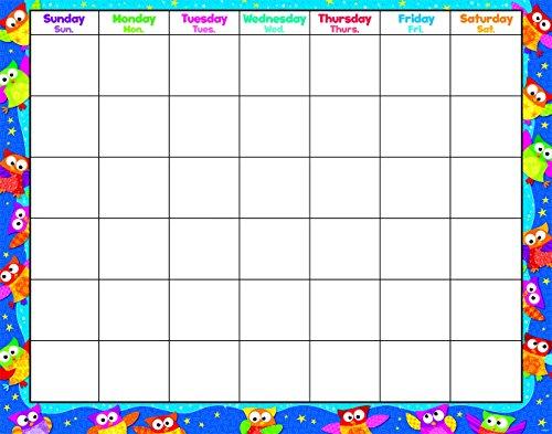TREND enterprises, Inc. Owl-Stars! Wipe-Off Calendar, Monthly