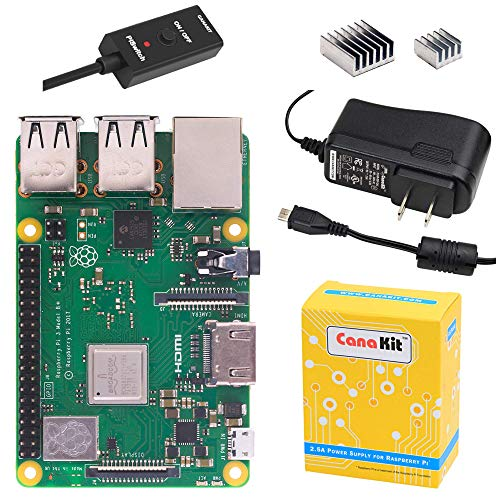 CanaKit Raspberry Pi 3 B+ (B Plus) with 2.5A Power Supply (UL Listed) (Kit 802.11b/g)