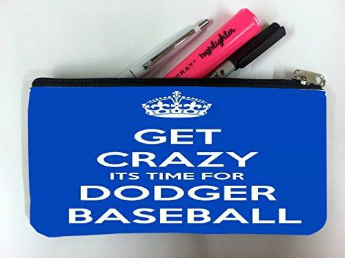 Dodgers Los Angeles Pencil (Los Angeles Dodger's Baseball Student Pen Pencil Case Coin Purse Pouch Cosmetic Makeup Bag)