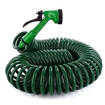 coil garden hose. New 50ft Retractable Extending Coil Garden Hose Pipe 5 Function Water Spray Gun Shopmonk