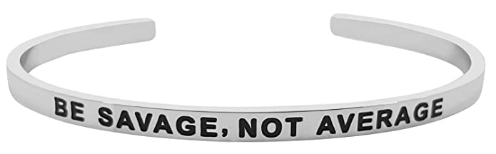 Pulsera BE SAVAGE, NOT AVERAGE