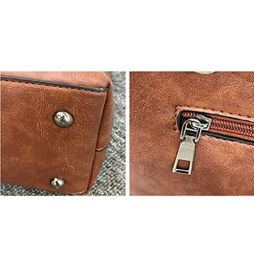 Sulida à femmes Brown Bag multiples bandoulière Sacs pour à usages Sacs nxS6xZ4qCw