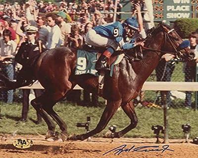 ANGEL CORDERO SIGNED 8x10 KENTUCKY DERBY HORSE JOCKEY FOR SPEND A BUCK PHOTO MAB