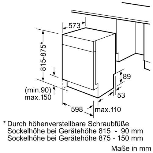 Super Siemens SE44M568EU Unterbau-Geschirrspüler / A+ AA / 13 L / 1.02 LY67