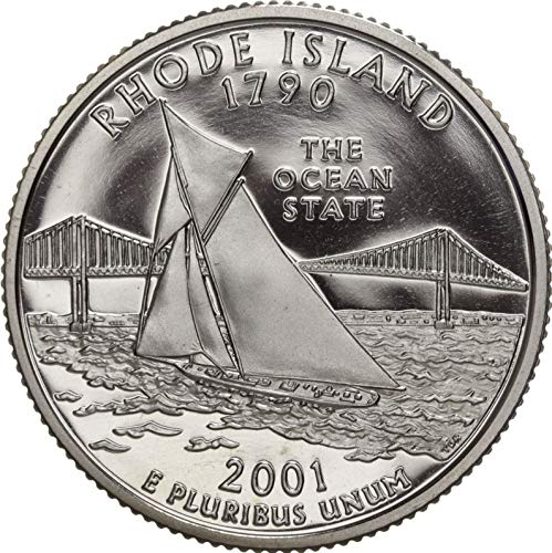2001 S Rhode Island State Clad Proof Quarter PF1 US Mint