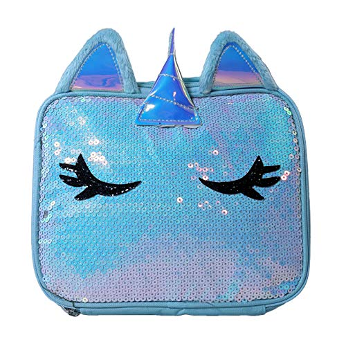 UPD Unicorn Blue Flat Sequin Rectangle Lunch Bag -