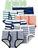 Carter's Big Boys' 7-Pack Cotton Briefs (4-5T, Rainbow Stripes(35183011)/Orange/Green)