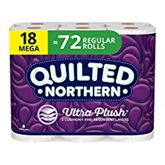 Silky, smooth, and soft, Quilted Northern Ultra Plush toilet paper offers 3 cushiony and absorbent layers of comfort for the clean feel you expect and the luxurious feel you desire. Quilted Northern Ultra Plush bath tissue is the only premium...