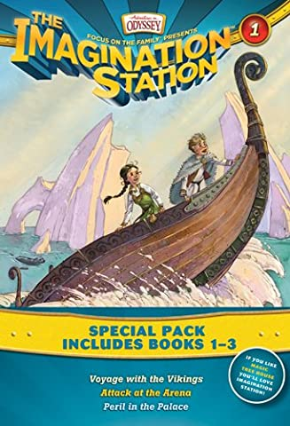 Imagination Station Books 3-Pack: Voyage with the Vikings / Attack at the Arena / Peril in the Palace (AIO Imagination Station (Vikings Children)