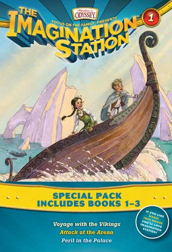 Imagination Station Books 3-Pack: Voyage with the Vikings / Attack at the Arena / Peril in the Palace (AIO Imagination Station Books)
