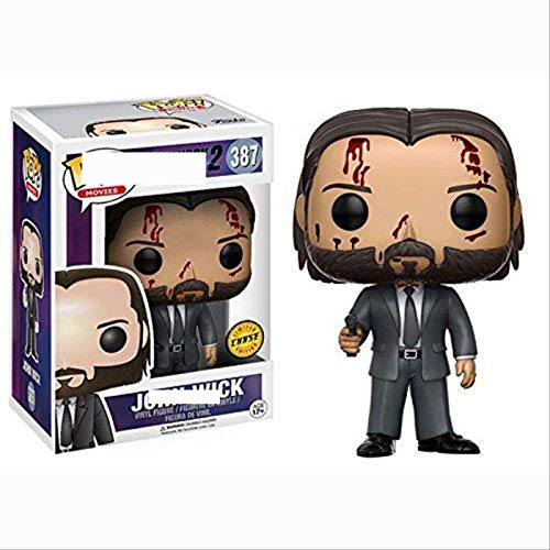 PLKI Funko Pop Swiftly Chase 3 Hand Office Boys Speedy John Wick 387 # Figura Coleccionable Limitada Quickly Swift Blood, Multico