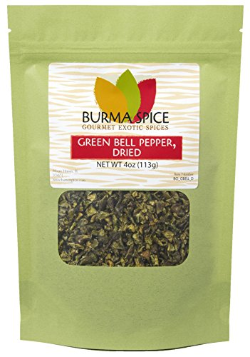 (Green Bell Pepper Flakes : Pure Natural Dried Seasoning Spice : Kosher Certified)