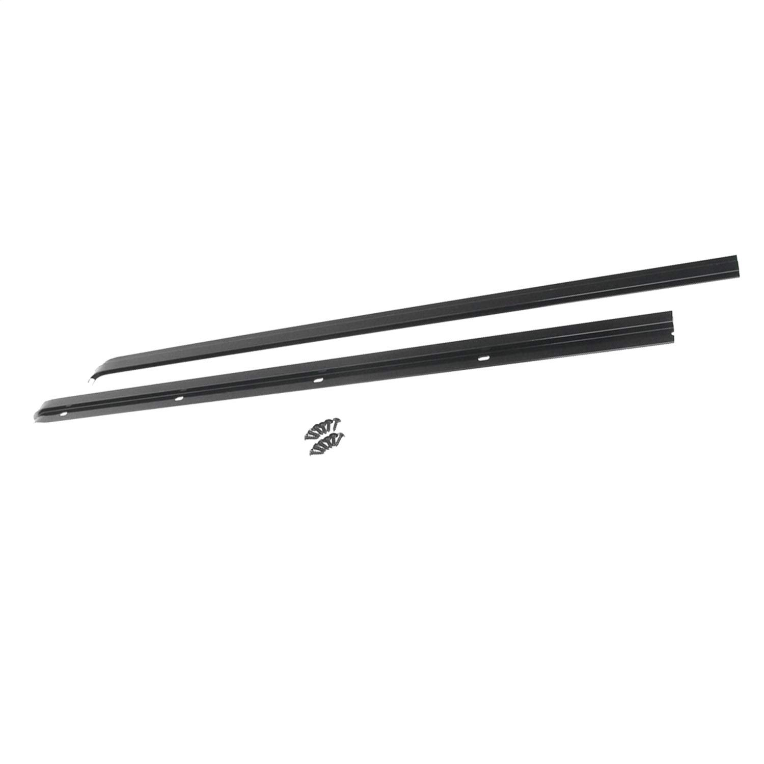 RAMPAGE PRODUCTS 901001 Soft Cab Top Windshield Channel for 1976-1995 Jeep CJ, Wrangler YJ, Black