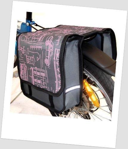 T-JOY-02 Fahrradtasche JOY city pink Kinderfahrradtasche Satteltasche Gepäckträgertasche 2 x 5 Liter KINDER