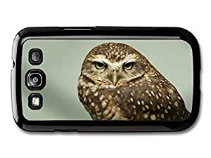AMAF ? Accessories Cute Serious Owl case for Samsung Galaxy S3