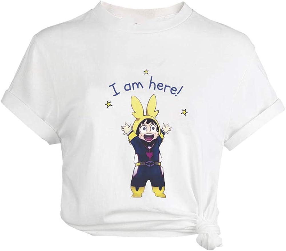 bianco-5 Elibeauty Lunanana Boku No Hero Academia Calcio americano per donne e ragazze XXL maglietta a maniche corte con stampa 3D