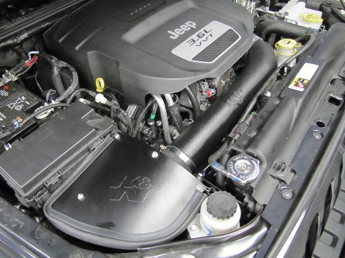 K&N 63-1566 AirCharger Performance Air Intake System for Jeep Wrangler JK 3.6L V6 by K&N (Image #1)