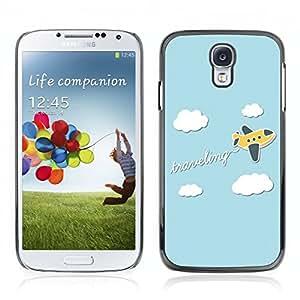 Carcasa Funda Case // V0000735 Traveling Cartoon Plane //Samsung Galaxy S4 i9500