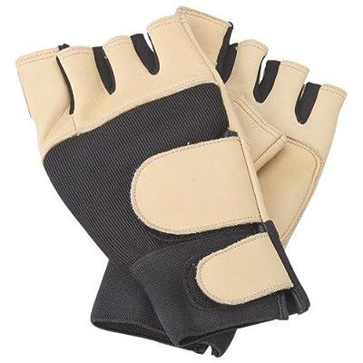 Full Grain Leather Fingerless Work Glove Anti-Vibration, LARGE