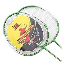 Kids Badminton Set, 2 Packs Badminton Racquets, a case, 3 Shuttlecocks GREEN