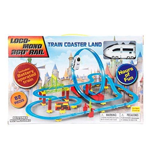 82pcs ChuChu Train Coaster with Loop 360 Loco-Monorail Land Bullet Train Play Set (White)