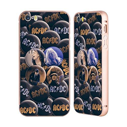 Officiel AC/DC ACDC Solo Épingles De Bouton Or Étui Coque Aluminium Bumper Slider pour Apple iPhone 5 / 5s / SE