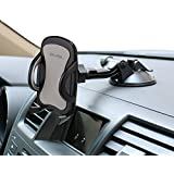 Car Phone Mount,OHLPRO Cell Phone Holder For Car Dash Windshield Dashboard Universal 360°Adjustable Rotating for iPhone Samsung SONY Google All 4- 6.4 Smartphones GPS Mobile (Silver)