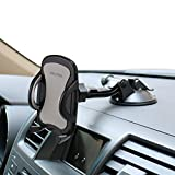 "Car Phone Mount,OHLPRO Cell Phone Holder for Car Dash Windshield Dashboard Universal 360°Adjustable Rotating for iPhone Samsung Sony Google All 4""- 6.4"" Smartphones GPS Mobile (Silver)"