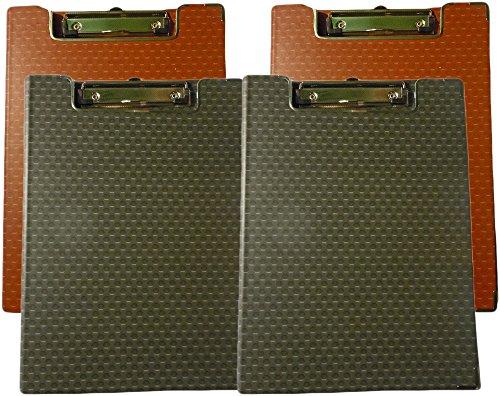 (Clipfolio Hexagon Design, Colors Include Brown & Black (4))
