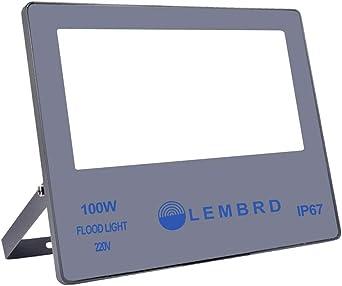 LTPAG Focos de Exterior, 100W 10000LM Ultrafino Foco LED Proyector ...