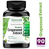 Grape Seed Extract - Helps Blood Circulation, Cholesterol Levels, Anti-Aging, Inflammatory - 100mg Premium Extract w/Organic Rosehip Powder - Emerald Laboratories (Ultra Botanicals) - 90 Capsules