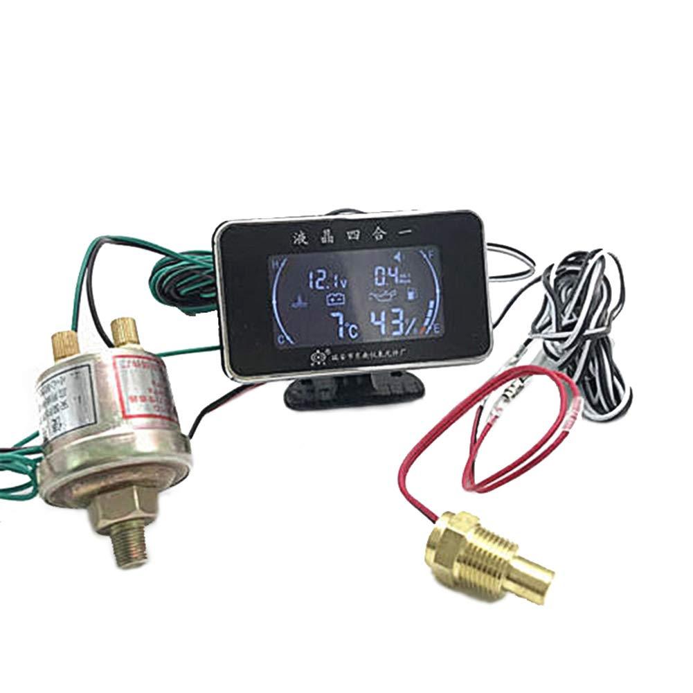 4 in 1 Ö ldruckmessgerä t Temperaturmesser Voltmeter mit Drucksensor Symboat