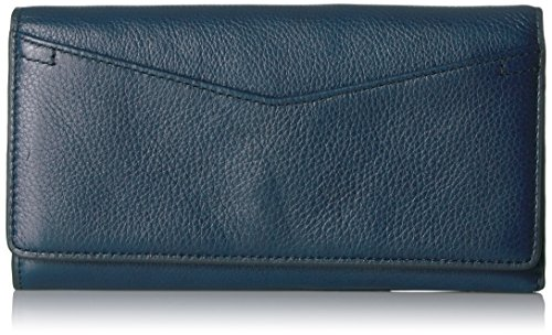 Fossil Caroline Continental Flap Wallet Midnight Navy Wallet by Fossil