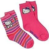 Hello Kitty - Face Rainbow Women's Slipper Socks - Small/Medium
