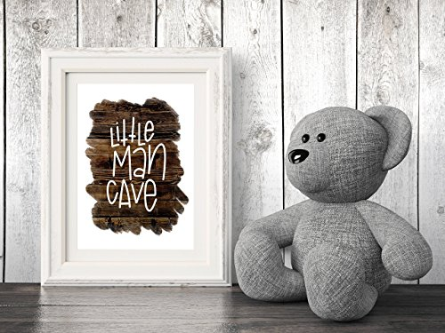 Handlettered Nursery Graphic Design Print 8.5 x11 Artwork Wood